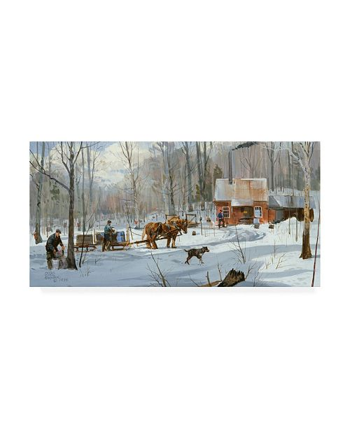 "Trademark Global Peter Snyder Almost Back to the Shanty Canvas Art - 15.5"" x 21"""