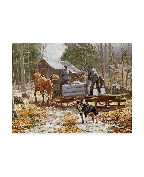 """Trademark Global Peter Snyder End of the Sugaring Canvas Art - 27"""" x 33.5"""""""