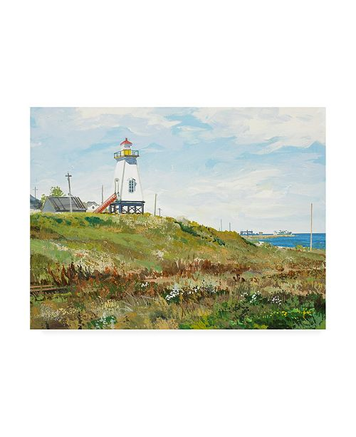 "Trademark Global Peter Snyder Ferry Harbour Cape Tourmentine New Brunswick Canvas Art - 27"" x 33.5"""