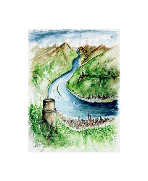 "Trademark Global Peter Potter Rhine River Germany Canvas Art - 36.5"" x 48"""