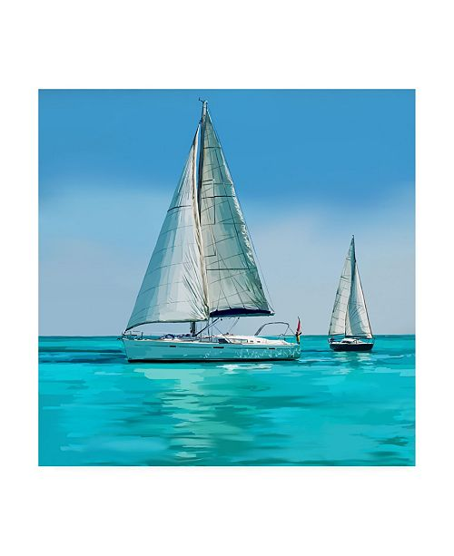"Trademark Global Emily Kalina Sailing Portrait IV Canvas Art - 36.5"" x 48"""