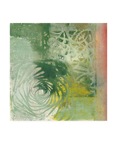 "Trademark Global Joyce Combs Floral Breeze II Canvas Art - 15.5"" x 21"""