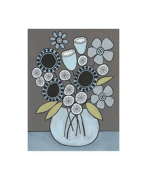 """Trademark Global Regina Moore Happy Garden Flowers I Canvas Art - 27"""" x 33.5"""""""