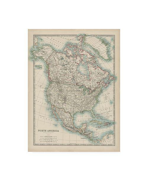 "Trademark Global Johnston Johnstons Map of North America Canvas Art - 27"" x 33.5"""