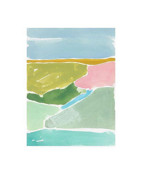 "Trademark Global Rob Delamater Abstract Italian Landscape I Canvas Art - 15.5"" x 21"""
