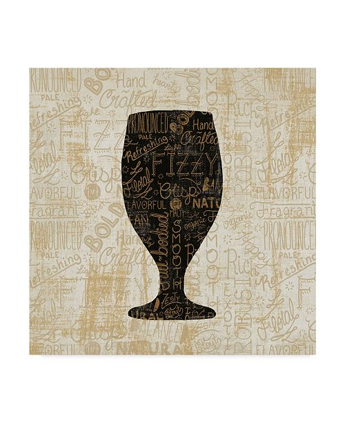 "Trademark Global Cleonique Hilsaca Cheers For Beers Goblet Canvas Art - 20"" x 25"""
