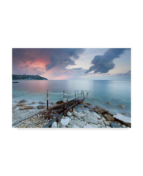"Trademark Global Claudio Coppari Path to the Light Pier Canvas Art - 15"" x 20"""