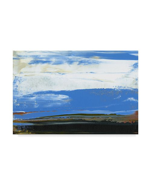 "Trademark Global Sharon Gordon Deconstructed View in Blue I Canvas Art - 20"" x 25"""