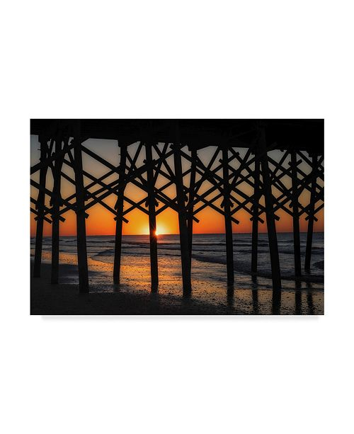 "Trademark Global Danny Head Setting Under the Boardwalk Canvas Art - 20"" x 25"""