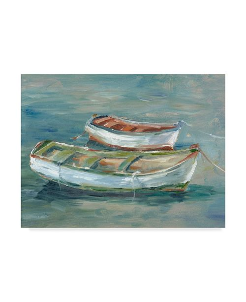 """Trademark Global Ethan Harper Boats By the Shore II Canvas Art - 20"""" x 25"""""""
