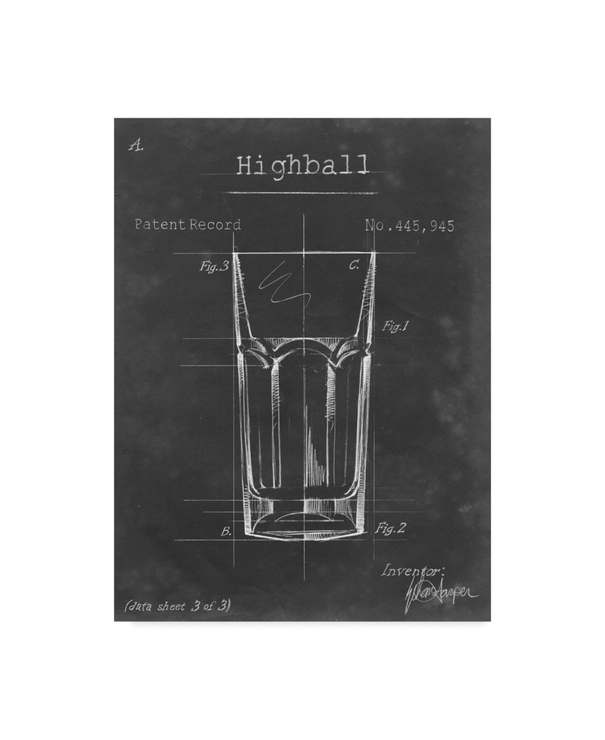 Ethan Harper Barware Blueprint Ii Canvas Art - 37