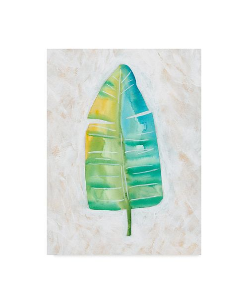 "Trademark Global Chariklia Zarris Ocean Side Palms V Canvas Art - 37"" x 49"""