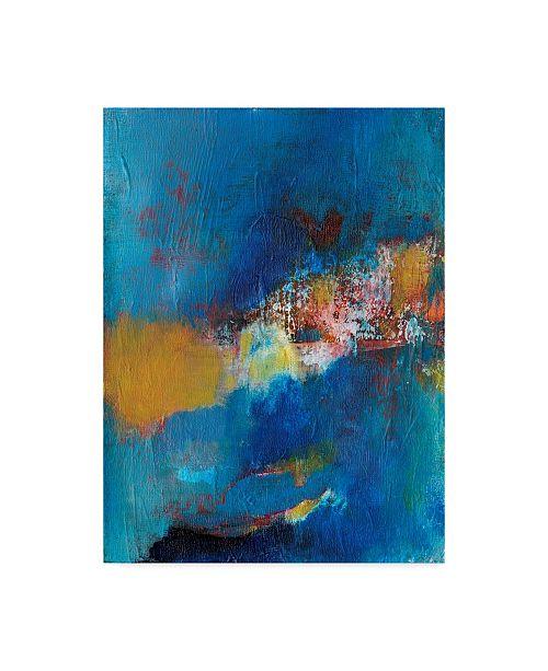 "Trademark Global Jodi Fuchs Rhapsody in Blue I Canvas Art - 37"" x 49"""
