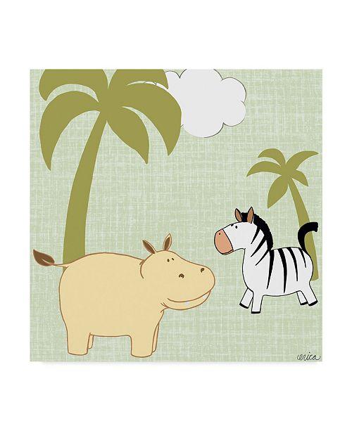 "Trademark Global June Erica Vess Baby Jungle III Canvas Art - 15"" x 20"""