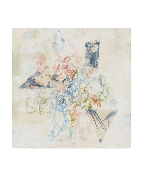 "Trademark Global Jennifer Goldberger Pastel Scribble II Canvas Art - 15"" x 20"""
