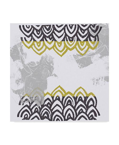 "Trademark Global June Erica Vess Block Print Abstract V Canvas Art - 27"" x 33"""