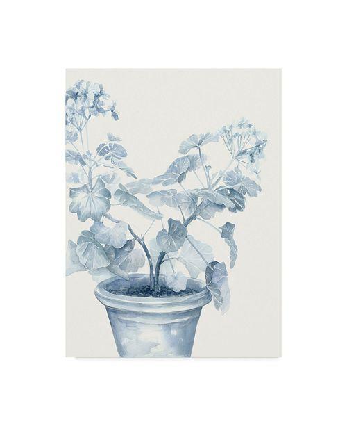 "Trademark Global Megan Meagher Blue Geranium I Canvas Art - 20"" x 25"""