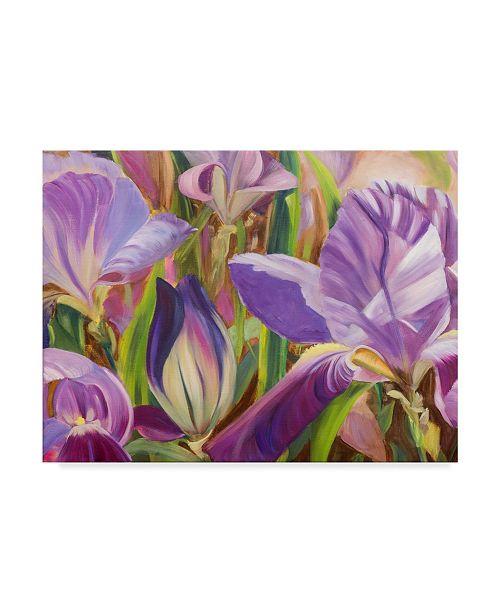 "Trademark Global Sandra Iafrate Iris Details I Canvas Art - 37"" x 49"""
