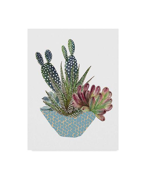 "Trademark Global Melissa Wang Cactus Arrangement I Canvas Art - 20"" x 25"""