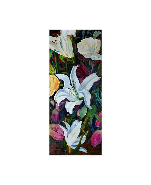 "Trademark Global Sandra Iafrate Baroque Flower Triptych I Canvas Art - 15"" x 20"""