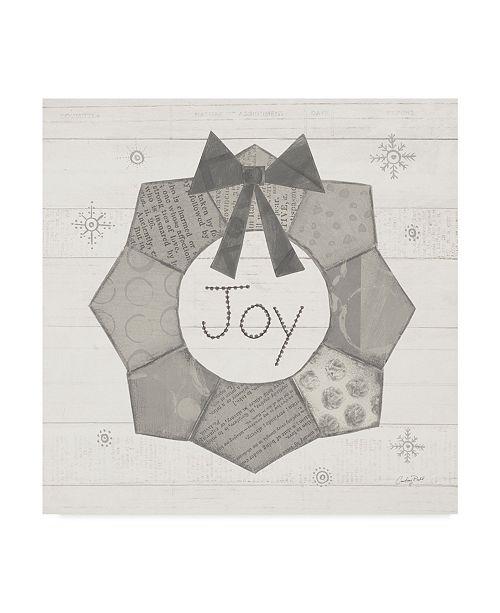 "Trademark Global Courtney Prahl Christmas Patchwork Ii Neutral Canvas Art - 27"" x 33"""