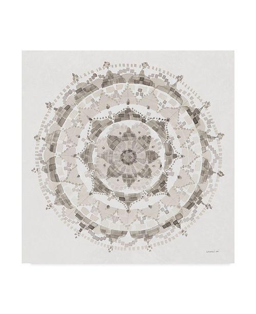 "Trademark Global Danhui Nai Neutral Mandala Canvas Art - 15"" x 20"""