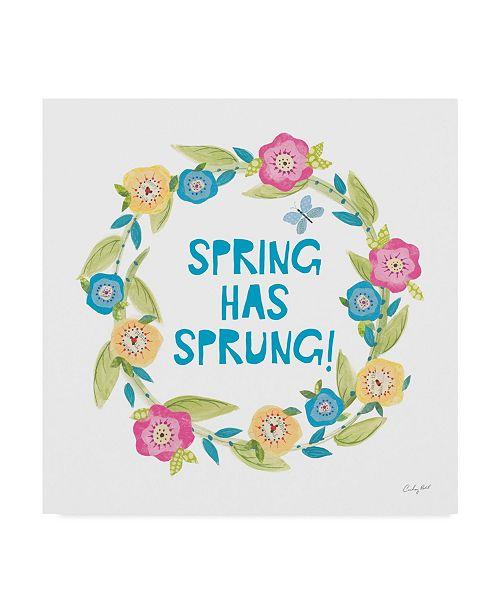 "Trademark Global Courtney Prahl Spring has Sprung II Canvas Art - 27"" x 33"""