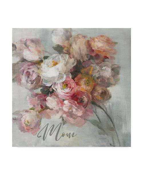 "Trademark Global Danhui Nai Blush Bouquet Mom Canvas Art - 20"" x 25"""