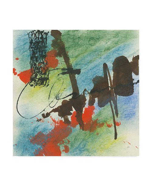 """Trademark Global Chris Paschke Graffiti Blue I Canvas Art - 15"""" x 20"""""""