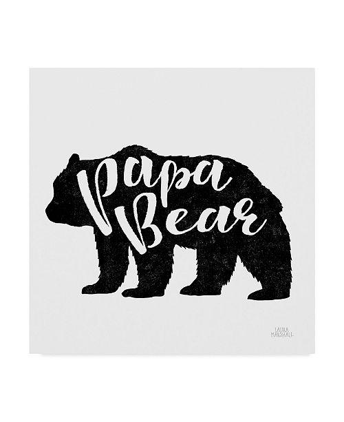 "Trademark Global Laura Marshall Papa Bear Canvas Art - 27"" x 33"""