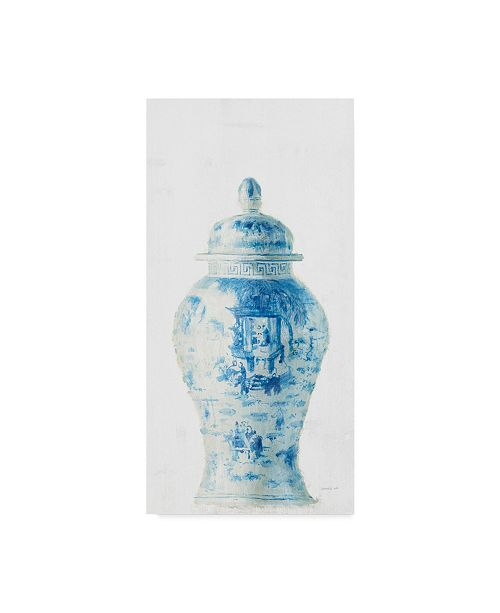 "Trademark Global Danhui Nai Ginger Jar Ii on White Crop Canvas Art - 20"" x 25"""