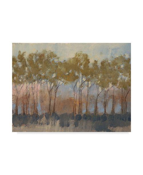 "Trademark Global Jennifer Goldberger Ochre Tree Line I Canvas Art - 20"" x 25"""