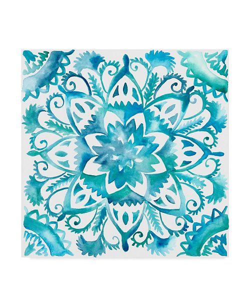 "Trademark Global Chariklia Zarris Meditation Tiles IV Canvas Art - 27"" x 33"""