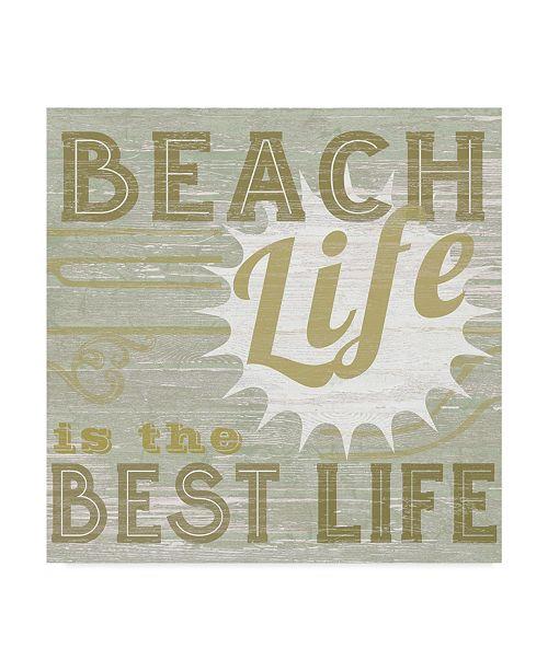 """Trademark Global June Erica Vess A Little Beachy II Canvas Art - 27"""" x 33"""""""