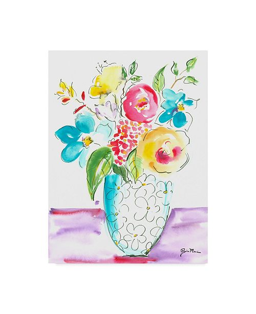 "Trademark Global Julia Minasian Flower Burst Vase I Canvas Art - 37"" x 49"""