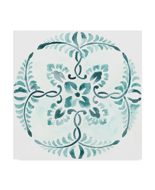 "Trademark Global June Erica Vess Aqua Medallions VI Canvas Art - 15"" x 20"""