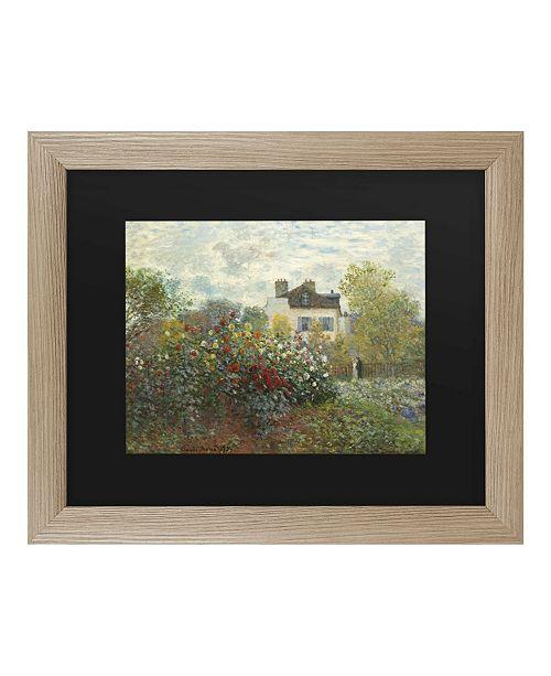 """Trademark Global Claude Monet The Artist's Garden in Argenteuil Matted Framed Art - 37"""" x 49"""""""