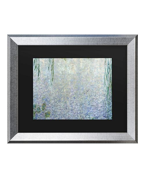 "Trademark Global Claude Monet Waterlillies Morning II Matted Framed Art - 27"" x 33"""