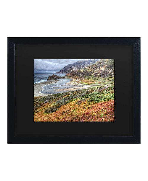 """Trademark Global Pierre Leclerc Bigsur California Matted Framed Art - 15"""" x 20"""""""