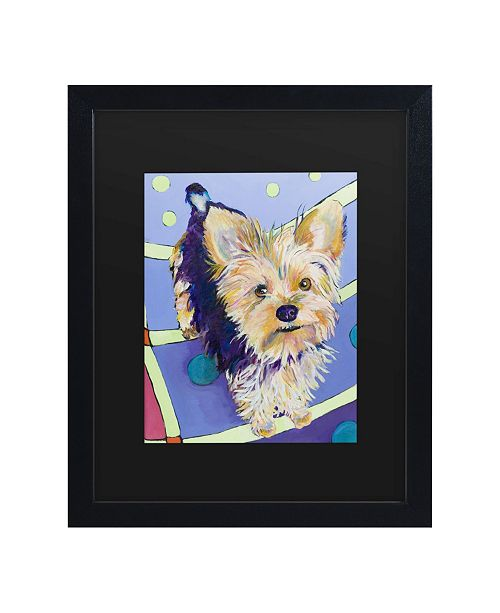 "Trademark Global Pat Saunders-White Claire Matted Framed Art - 15"" x 20"""