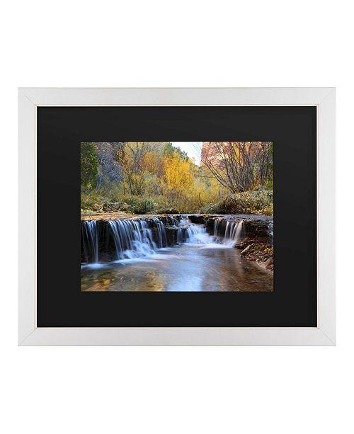 """Trademark Global Pierre Leclerc Zion Autumn Matted Framed Art - 20"""" x 25"""""""