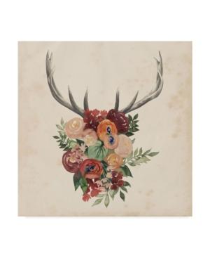 """Trademark Global Grace Popp Flower Antlers Ii Canvas Art - 15"""" X 20"""" In Multi"""