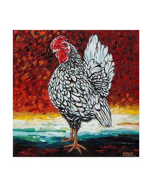 """Trademark Global Carolee Vitaletti Fancy Chicken II Canvas Art - 20"""" x 25"""""""