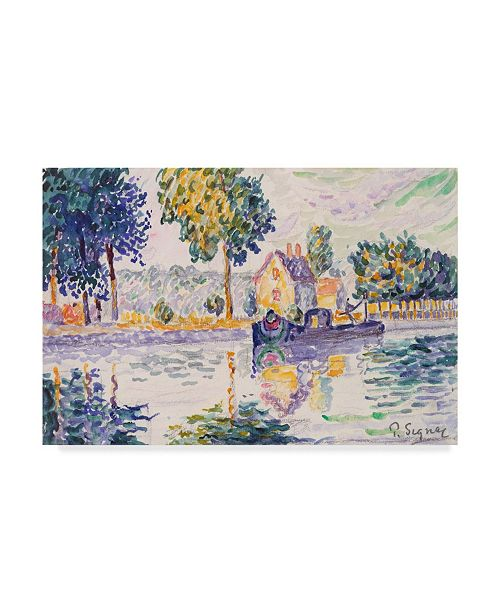 "Trademark Global Paul Signac View of the Seine, Samois Canvas Art - 20"" x 25"""