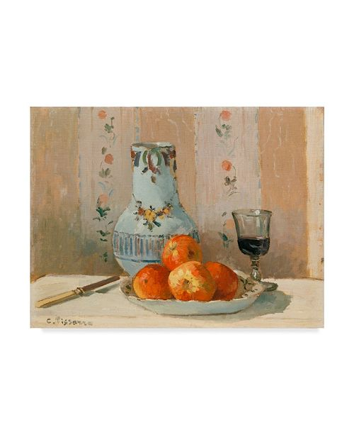 "Trademark Global Camille Pissarro Still Life with Apples and Pitcher Canvas Art - 15"" x 20"""