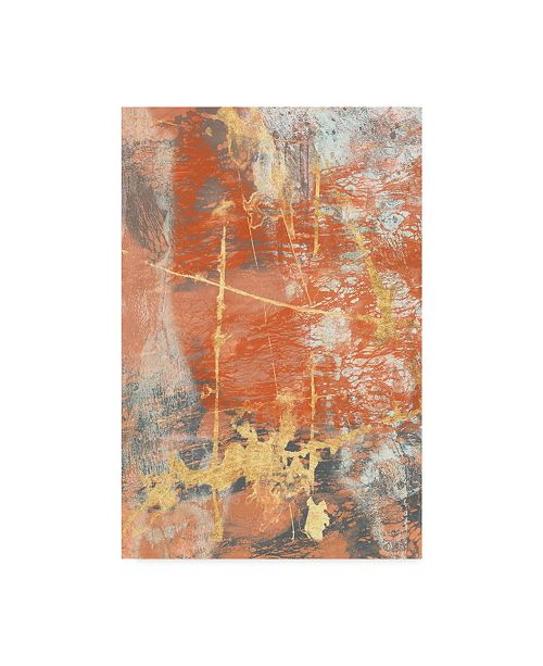 "Trademark Global Jennifer Goldberger Terre Cotta Lace I Canvas Art - 20"" x 25"""