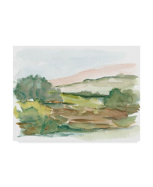 "Trademark Global Ethan Harper Impressionist Watercolor IV Canvas Art - 37"" x 49"""