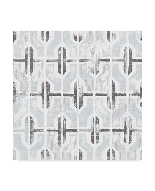 "Trademark Global June Erica Vess Monoprint Tile I Canvas Art - 15"" x 20"""