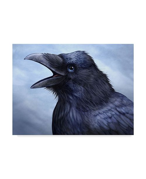"Trademark Global Patrick Lamontagne Raven Totem Canvas Art - 20"" x 25"""