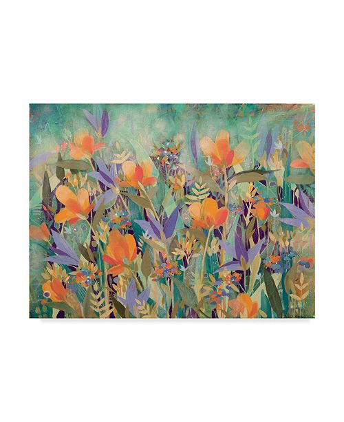 "Trademark Global Sue Davis Summer Garden Abstract Modern Canvas Art - 20"" x 25"""